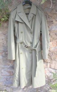 Vintage French army officer's trench coat, ?unworn, large size, light  khaki