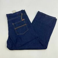 NWT Kani Gold Denim Jeans Mens 42X32 Blue Straight Leg Cotton Blend Medium Wash