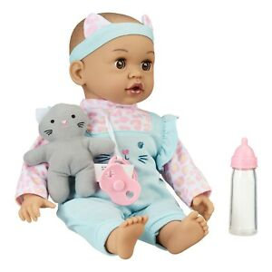 NEW My Sweet Love Sweet Baby Doll Toy Set, 4 Pieces, Latin American with Kitty