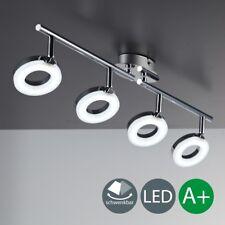 LED Decken-Leuchte Chrom modern Lampe Wohnzimmer Spot Strahler drehbar 4-flammig