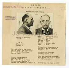 Wanted Notice - Grover C. Treadway/Bond Jumping - San Diego, CA - 1937
