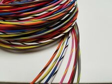 18 AWG TXL HIGH TEMP AUTOMOTIVE POWER WIRE 16 COLORS STRIPED 25 FT EA