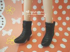 Doll Shoes ~ Takara Licca Bijou series Black Color Short Boot Shoes 1PAIR NEW