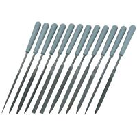 12 Piece Mini Smal Precision Needle File Set  Assorted Shaped Poly Handles