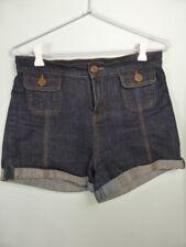 SPORTSGIRL dark blue Vintage style cuff leg shorts sz 9
