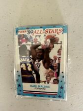 1989-90 FLEER BASKETBALL ALL-STAR STICKER 11 CARD SET MICHAEL JORDAN