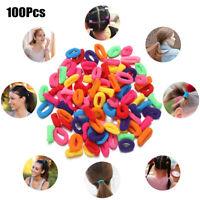 100Pcs Women Girls Hair Band Ties Rope Ring Elastic Hairband Ponytail Holder!!