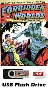 HUGE Forbidden Worlds Comic Books 145 Issues on 32GB USB Flash Drive - PDF Files