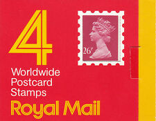 Gb: 1987: Cc 104H1: 4 x 26p Window Booklet, Barcode 100050, Cyl B2, square catch