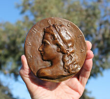 Medallion, Ophelia, Hamlet, Shakespeare, Denemark, 120mm bronze