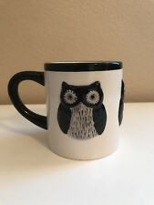 Black & White Large Oversize Owl Coffee Mug 3D Global Design Kate Williams