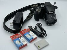 Nikon P500 36X Digital Camera & Accessories 3 Batteries Strap And Chargers.