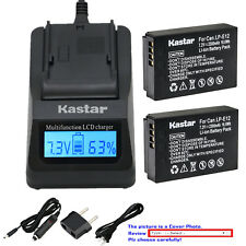 Kastar Battery LCD Fast Charger for Canon LP-E12 LC-E12 Canon PowerShot SX70 HS