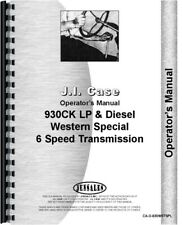 Case 930 Ck Construction King Western Special Tractor Operators Owners Manual