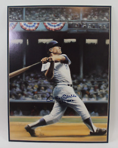 Mickey Mantle signed autographed large poster! New York Yankees! AMCo!