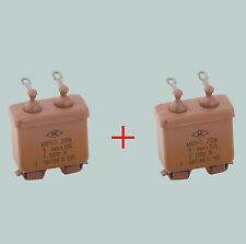 1 uF 200 V LOT OF 2 RUSSIAN PAPER IN OIL PIO AUDIO CAPACITORS MBGP-3 МБГП–3