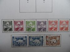 Stamps,Greenland, Sc#1-9, used