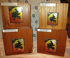 New ListingLot Of-4- Drew Estate Acid Various Wood Cigar Boxes Great Condition
