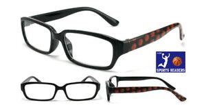 Reading Glasses Mens Eyewear Black Basketball Printed Readers New +1.75 to +3.50