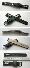 -Edelweißuhrband Schwarz 18mm zum Beispiel für Michel Jordi u andere Trachtenuhr