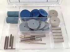 Rubber Wheel 40 PC Polishing Kit For Non-Precious Metals Stainless Tungsten