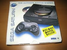Sega Saturn Original NTSC Black Game Console System New In Box