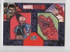2017 Marvel Annual patch card DCP-18 Moon Girl / Devil Dinosaur SP