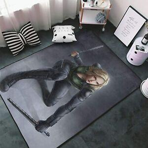 Marvel Black Widow Area Rug Living Room Bedroom Soft Flannel Floor Mat Carpet