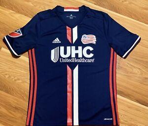 New England Revolution MLS Adidas Navy Blue Climacool Team Replica Jersey Stitch