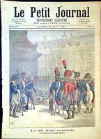 Le Petit Journal N°39- 22/08/1891 Le 15 Août autrefois, La Petite, Patriote