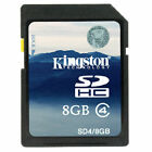 Kingston 8GB 8G SDHC SD Class 4 Memory Card geuine 4MB/s for Camera Camcorder