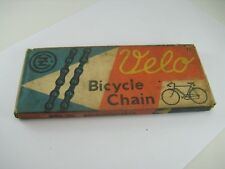 "VELO BICYCLE CZ CHAIN 1/2"" X 1/8"" 112L FOR VINTAGE RALEIGH FROM CZECHOSLOVAKIA"