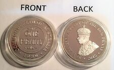 """2015 1 OZ 1930 Penny """"85 Year Anniversary Coin"""" (Finished in 999 Fine Silver)"""