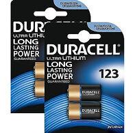 6 x Duracell CR123A CR123 123 3v Lithium Photo Battery Card of 1x6