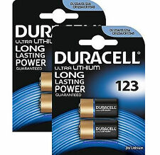 4 x DURACELL cr123a cr123 123 3v Litio Foto Batteria carta del 2