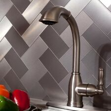 Peel And Stick Tile Silver Stainless Self Adhesive Metal Wall Kitchen Backsplash