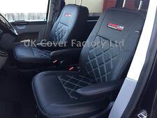 VW Transporter t5 Van Coprisedili - 2-singolare Bianco Bentley Stitch x150bk-wt SL