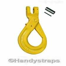 Self Locking Hooks 10mm Clevis With Grip Latch Lifting Chain Handy Straps