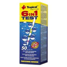 (0,28 Euro/Stück) TROPICAL 6in1 Wassertest - 50 Teststreifen für Gartenteiche