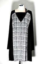 Sallie Sahne  Gr 50   Shirt Longshirt  NIEL84  Karomuster SCHWARZ / BEIGE
