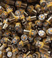 (3)BAYONET ORANGE LED-LAMP/6.3V AC- KR-/6050/6650- VINTAGE RECEIVER METER DIAL