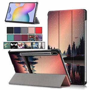 Case for Samsung Galaxy Tab S7 Plus 12.4'' 2020 Tri-Fold Stand Cover Wake/Sleep