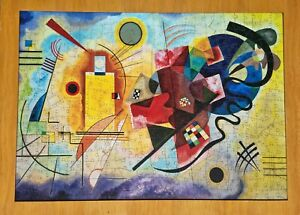 Yellow-Red-Blue by Wassily Kandinsky colourful Wentworth Wooden Jigsaw, 500pcs