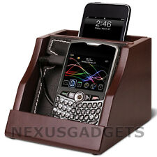 Brac Cell Phone Charging Stand Wood Organizer Cradle Valet Holder, New