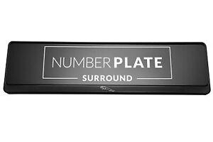 1 x Prestige Black Stainless Steel Number Plate Holder for any Jaguar