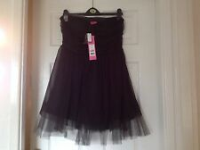 George g21 party dress - black netting - brand new with labels and coat hanger