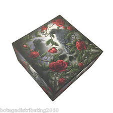 Sorrow For The Lost Trinket Box Linda M Jones Collection Raven Red Rose Angel
