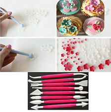 8Pcs Flower Sugarcraft Fondant Cake Decorating Modelling Tools Kit Paste Mold CI