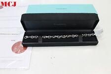 Tiffany & Co. 18k White Gold Oval Link Bracelet  20cm