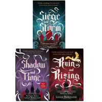 Leigh Bardugo The Grisha Series 3 Books Collection Set Pack Shadow and Bone NEW
